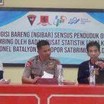 personil Brimob Yon C Pelopor Laksanakan langsung Sensus penduduk di MAKO