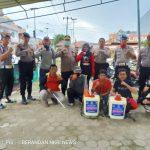 PSMTI dan Yayasan Marandang Berasama Polres Mamuju , Cegah laju Virus Korona