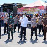 Kapolda Sulsel , gubernur, Pangdam  tinjau kesiapan Dapur lapangan Brimob Polda Sulsel jelang pemberlakuan PSBB