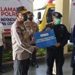 Baharkam Polri dapat Dukungan Dari Danone Indonesia untuk program keselamatan Dalam penanggulangan Covid-19