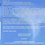Surat Cinta Presiden Gumregah Nusantara ke Ojek / Sopir online dan permintaan Dengan Hormat ke pemilik perusahaan Transportasi Online