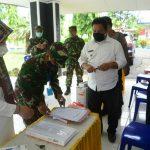 Untuk tepat sasaran , Dandim 1407/Bone serahkan langsung Ribuan Masker ke posko gugus kecamatan