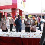 Wakapolda Sulsel cek dapur lapangan Polri di makosat Brimob , pastikan kesiapan program  1.000 nasi dos perhari untuk warga terdampak Covid-19