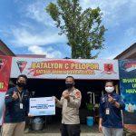 Bank Mandiri KC Watampone Suntik Donasinya ke dapur lapangan TNI-POLRI