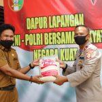 Dapur lapangan TNI-POLRI kembali dapat tambahan Amunisi dari pemerintah kabupaten Bone