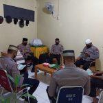 Personil Yon C pelopor Tetap khusyuk jalankan tadarus Al-Qur'an walaupun di tengah Wabah Covid-19