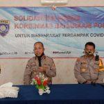 Korbinmas Baharkam polri Peduli warga Masyarakat Balaraja ,Harus kehilangan mata pencaharian ,Akibat pandemic Covid-19