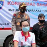 Kakorbinmas Baharkam Polri , Peduli Penyandang Disabilitas (Difabel) berikan 223 Paket bantuan Sembako