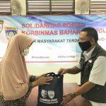 Baharkam polri kembali bagikan 125 Paket Sembako untuk warga kelurahan Sukma jaya kota Depok