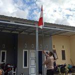 Kibarkan bendera Merah-putih Dirumah Masing Masing,Cara personel Brimob Yon C  Pelopor, Sambut Hari lahir Pancasila 1 Juni 2020