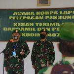 Pimpin Acara Korps Laporan pelepasan personil kodim 1407/Bone Yang MPP, Begini Pesan Dandim ! Kepersonilnya.