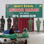Gandeng PMI Sultra Korem 143/HO Gelar Bakti Sosial Donor Darah,Ini targetnya