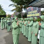 *Ketua Persit KCK Koorcab rem 141 PD XIV/Hasanuddin Kunker Dan Baksos Di Kabupaten Sinjai*