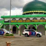 *Sambut Hari Bhayangkara Ke-74, Sat Lantas Polres Sinjai Gelar Kerja Bakti Bersihkan Masjid.*