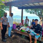 *Hari Libur, Kapolsek Pulau Sembilan Polres Sinjai turun langsung Pantau Tempat Wisata Pulau Larea-rea*