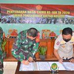 Danrem 141/Tp Brigjen TNI Djashar Djamil S.E,M.M Menghadiri Penyerahan Hasil TMMD Ke 108