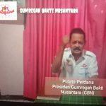 "Pidato Perdana Presiden Gumregah Bakti Nusantara: ""Sandang, Pangan, Papan Rakyat Terpenuhi Berkeadilan dan Kabinet Trisula PP GBN 2020-2025"""