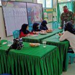 Bantuan Belajar Daring di Kantor Koramil 1407-01/Ajangale