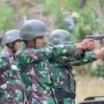Uji kemampuan personilnya ,Korem 141/ Tp laksanakan Latihan menembak Laras panjang dan pendek di Lemoape