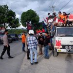 Pasca Debat Kandidat, Kapolres Tana Toraja Bubarkan Kerumunan Didepan Kantor Bupati Tator