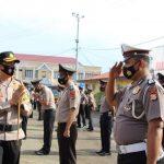 AKBP Try Handako Wijaya putra S.Ik Pimpin Upacara Kenaikan Pangkat 148 Personel Polres Bone
