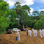 Batalyon C Pelopor bersama Tim Pemulasaran Jenazah Covid-19  kawal Ketat Proses Pemakaman Dua  Pasien Corona