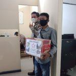 Dandim 1407/ Bone dan Kapolres serahkan Bantuan peduli gempa ke DPD APKLI kab Bone Sulawesi Selatan untuk diserahkan ke warga Sulbar