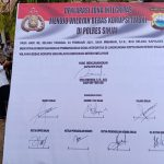 Polres Sinjai Gelar Deklarasi Pencanangan Pembangunan Zona Integritas Menuju WBK dan WBBM, Forkopimda bertanda tangan