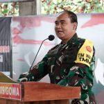 Mayjend TNI Surawahadi S.I.P Ketua team Wasev kunjungan dan tinjau pelaksanaan TMMD ke 110 T.A.2021 Kodim 1409/ Gowa