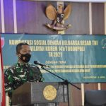 Kasrem 141/ tp kolonel inf Heri Purwanto S.E pimpin kegiatan Sosial dengan keluarga besar TNI wilrem 141/Tp T.A 2021