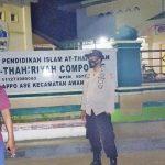 Personil Polsek Awangpone Polres Bone,Amankan malam pembukaan Sholat Tarwih di Masjid Darul Muttaqin Lappo Ase