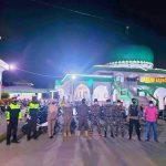Ciptakan Rasa Aman ,polres Sinjai jaga Sinergitas dengan TNI , Satpol PP dan GP Ansor PAM Sholat Tarwih