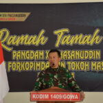 Danrem 141/Toddopuli bersama Pangdam XIV / Hasanuddin didampingi ibu Ketua Persit KCK PD XIV Hsn kunker di Makodim 1409/Gowa