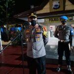 Akbp Iwan Irmawan S.Ik pimpin Apel Kesiapan Pengamanan Malam Takbiran Hari Raya Idul Fitri 1442 H / 2021 M Kab Sinjai