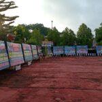 Banjir Karangan Bunga  warnai puncak peringatan hari bhayangkara ke 75 polres Sinjai