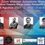 Webinar Jurnalis Warga Sukses, Ilham Bintang: Pewarta Warga Lebih Tinggi dari Wartawan