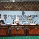 Pemkab Nunukan Gelar Konsultasi publik Rancangan Awal RPJMD Kabupaten Nunukan Tahun 2021 - 2026
