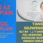 Sing Aji Mumpung Bakal Kecemplong, Tak Boleh Di Selewengkan, Tak Boleh Ada Kepentingan Politik, KAWAL KETAT BLT Rp 1.2 T Untuk 1 Juta PKL / WARUNG Wajib Tepat Sasaran!!!