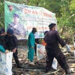 Batalyon C Pelopor Bone Gelar Baksos Bersihkan Pantai Dan Tanam Mangrove Sambut HUT Brigade Mobil ke 76